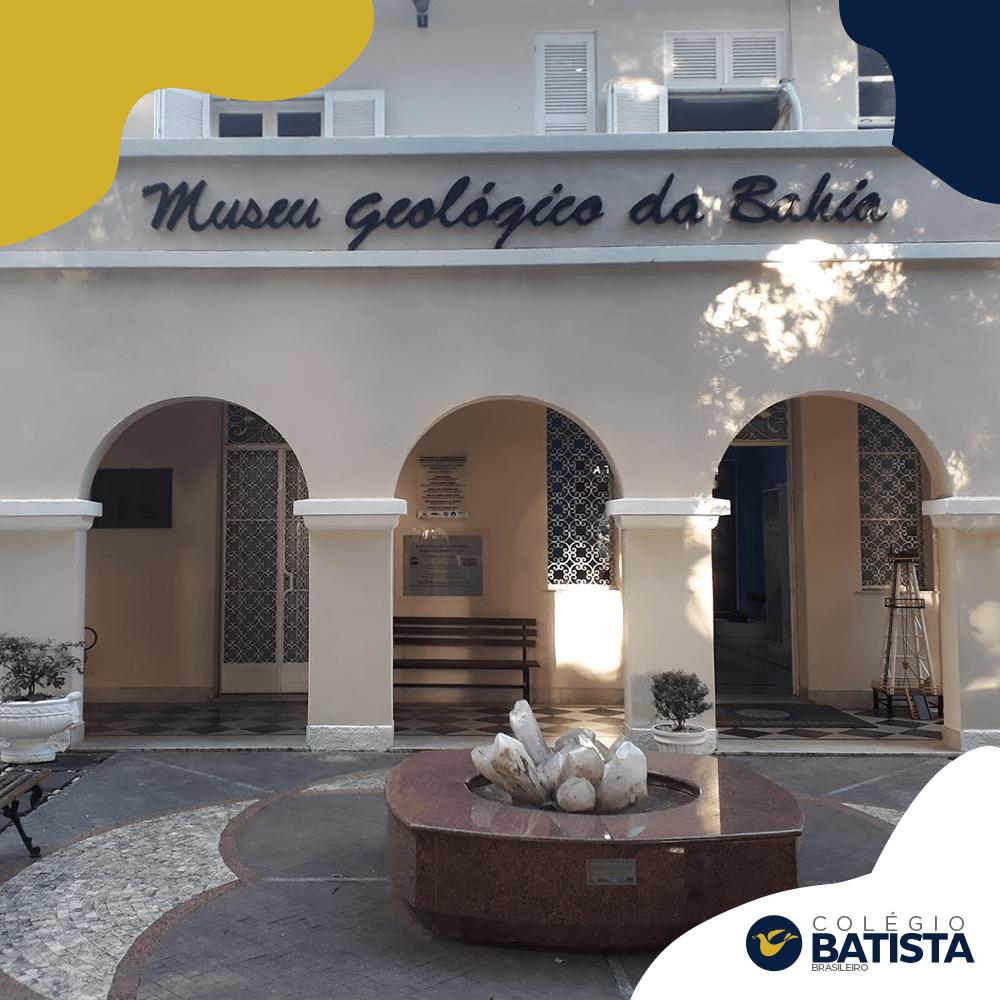 Os alunos do 4º ano do Colégio Batista irão realizar na próxima semana visita virtual no Museu Geológico da Bahia